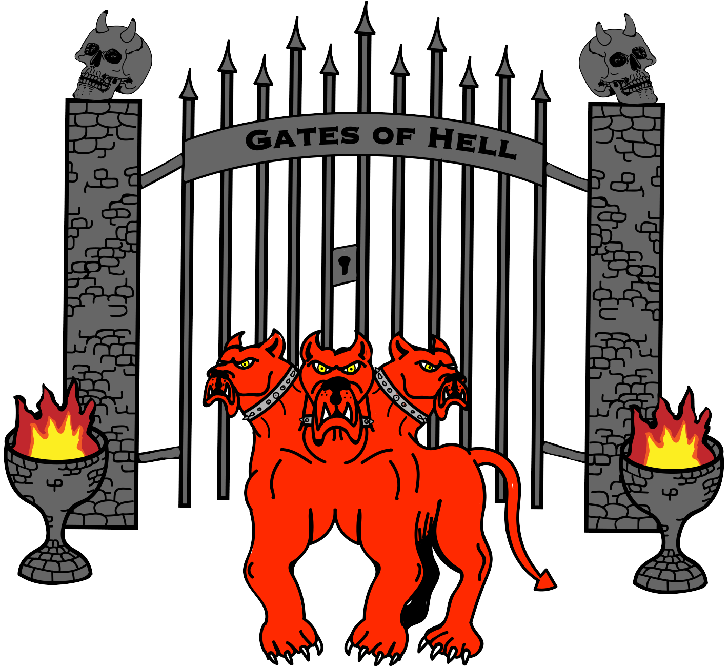 Gates of Hell & Cerberus combined